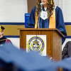 Class President Efstratia Glimenakis addresses her classmates during the 90th commencement ceremony at St. Bernard's on Friday evening. SENTINEL & ENTERPRISE / Ashley Green