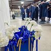 Graduates wait for the start of the graduation ceremony at St. Bernard's on Friday evening. SENTINEL & ENTERPRISE / Ashley Green