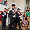 Knights of Columbus, Fitchburg Council #99 lead the graduates into the graduation ceremony at St. Bernard's on Friday evening. SENTINEL & ENTERPRISE / Ashley Green