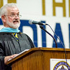 Principal Robert Blanchard addresses the graduates during the 90th commencement ceremony at St. Bernard's on Friday evening. SENTINEL & ENTERPRISE / Ashley Green