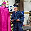 Cooper Bigelow receives his diploma during the 90th commencement ceremony at St. Bernard's on Friday evening. SENTINEL & ENTERPRISE / Ashley Green