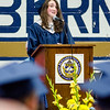 Valedictorian Caroline Anderson addresses her classmates during the 90th commencement ceremony at St. Bernard's on Friday evening. SENTINEL & ENTERPRISE / Ashley Green