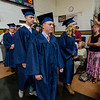 Graduates process into the 90th commencement ceremony at St. Bernard's on Friday evening. SENTINEL & ENTERPRISE / Ashley Green