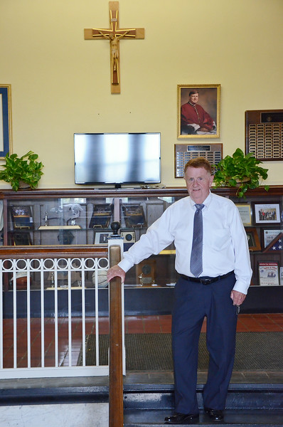 St. Bernard's Headmaster James Conry, who will be retiring at the end of the month. SENTINEL & ENTERPRISE / Ashley Green