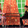St. Leo's students Haylee Deforte as Ariel and Chris Sontag as Eric rehearse The Little Mermaid at the school in Leominster on Wednesday afternoon. Two showings of the musical will be held this weekend, on both Friday and Saturday at 7 pm. SENTINEL & ENTERPRISE / Ashley Green