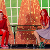 St. Leo's students Sarah Whittier as Sebastian and Haylee Deforte as Ariel during a dress rehearsal for The Little Mermaid at the school in Leominster on Wednesday afternoon. Two showings of the musical will be held this weekend, on both Friday and Saturday at 7 pm. SENTINEL & ENTERPRISE / Ashley Green