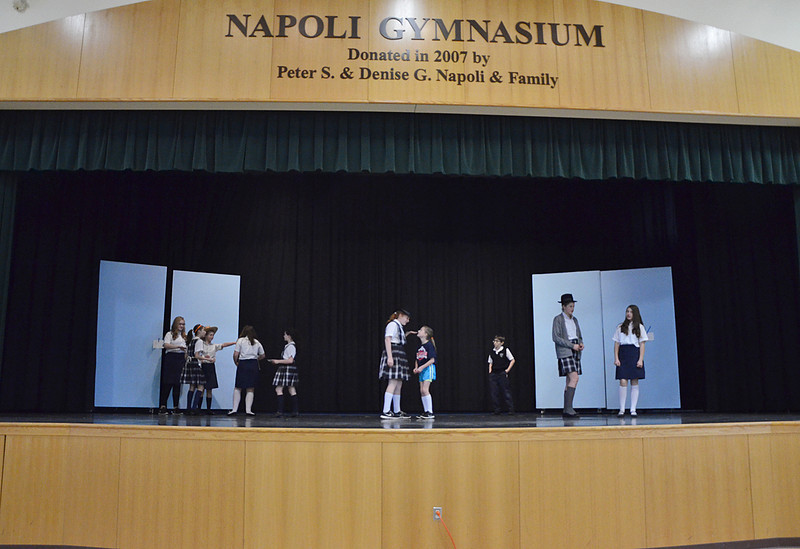 """Students from grades 4-8 at St. Leo's in Leominster rehearse for their upcoming musical, """"State Fair"""" which will be put on Friday, May 16 and Saturday, May 17. SENTINEL & ENTERPRISE / Ashley Green"""