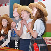 "(L-R) Alyssa Harris, Michael Karoll, Sydney Lussier, and Tegan Young, students from St. Leo's School in Leominster, rehearse for their upcoming musical, ""State Fair"" which will be put on Friday, May 16 and Saturday, May 17. SENTINEL & ENTERPRISE / Ashley Green"