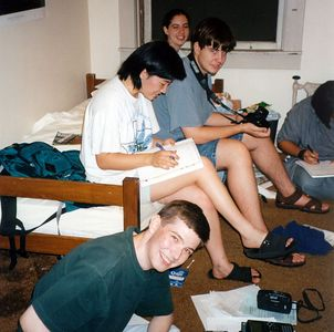 Group doing last-minute work #3