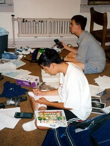 Larry and John(maybe) doing last-minute work