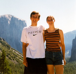 Audrey and me in Yosemite valley
