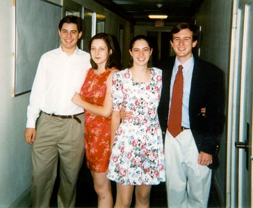 Jon, Helen, Audrey, and me before the final dance