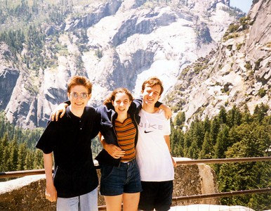 Audrey, Ross, and me at the top of Vernal Falls
