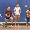 Stoklosa Middle School Summer Program. From left, Darren Cheang, 10, Angelina Gilpin, 13, Brianna DiCato, 13, and Erin Nji, 11, all of Lowell, play Capture the Flag. (SUN/Julia Malakie)