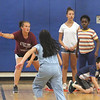 Stoklosa Middle School Summer Program. Clockwise from front, Jenny Nguyen, 10, Angelina Gilpin, 13, Brianna DiCato, 13, Erin Nji, 11, and Darren Cheang, 10, all of Lowell, play Capture the Flag. (SUN/Julia Malakie)