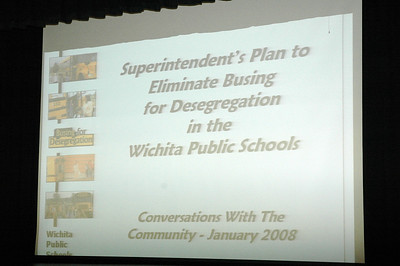 Wichita public school system is the 5th largest employer in the 4-county Wichita metro area.  Current enrollment 48,705 2007-08 school year which is the largest district between Mississippi River and Denver, Dallas and Canada, making this the 90th largest district in US