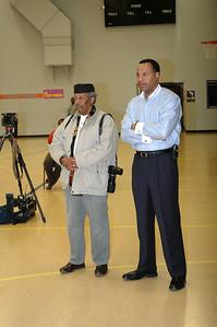 Matt Green and current school board member Dr. Kevass Harding