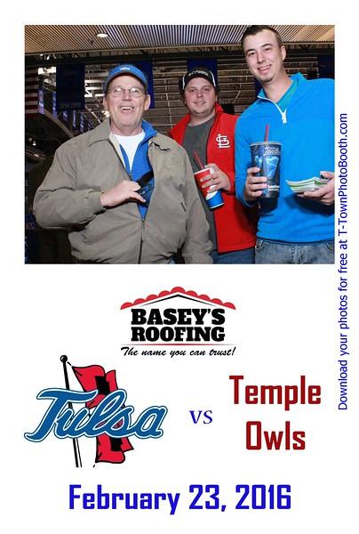 TU vs. Temple - February 23, 2016