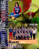 SoftBall Memory Mate Paint Splash 8x10-Hailey Reed