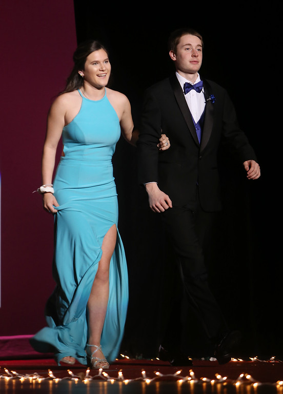 . Tewksbury Memorial High School DECA\'s annual fashion show, to benefit the Meghan McCarthy Research Fund for reseach on pediatric brain tumors.  (SUN/Julia Malakie)