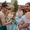 Pre-prom procession and photos at Tewksbury High. (SUN/Julia Malakie)