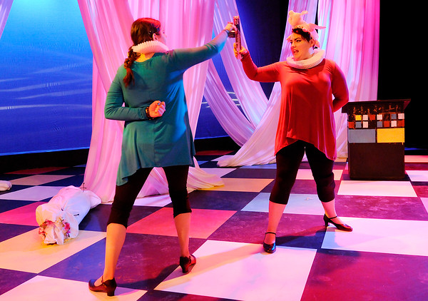 """Don Knight   The Herald Bulletin<br /> Anderson University's production of """"The Complete Works of William Shakespeare (Abridged)."""""""