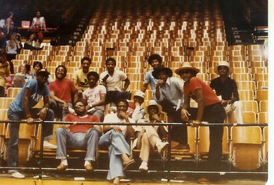 The Family Class of 1979. Graduation rehersal at WSU. Left standing front row. Franklin, Butler, Logan, Davis,Farris. Back row left -Thurnmon, Milton, Reed, Williams Morgan. Last row -Small, Bufford Kinard