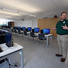 Superintendent Tim Piwowar gives a tour of the new Billerica Memorial High School. This room will be used for PLTW (Project Lead the Way Computer Science Essentials), Engineering Design, and Physics. (SUN/Julia Malakie)