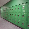 Lockers at the new Billerica Memorial High School. (SUN/Julia Malakie)