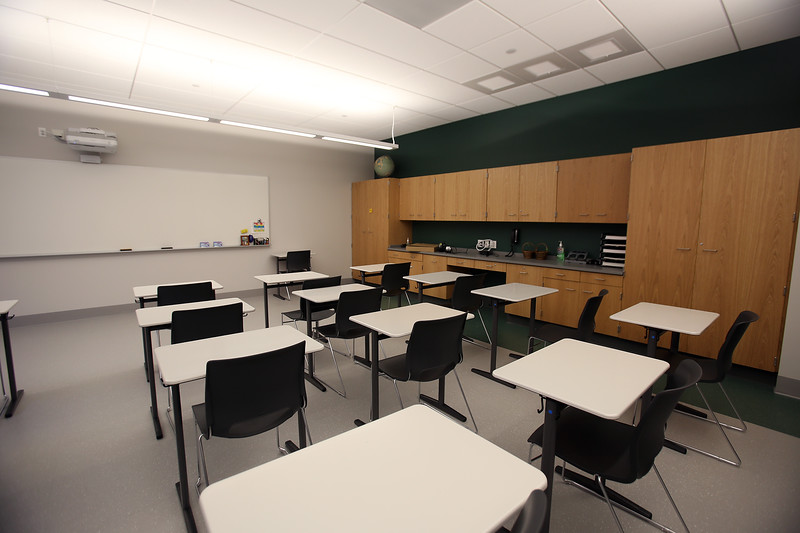 Classroom at the new Billerica Memorial High School. (SUN/Julia Malakie)