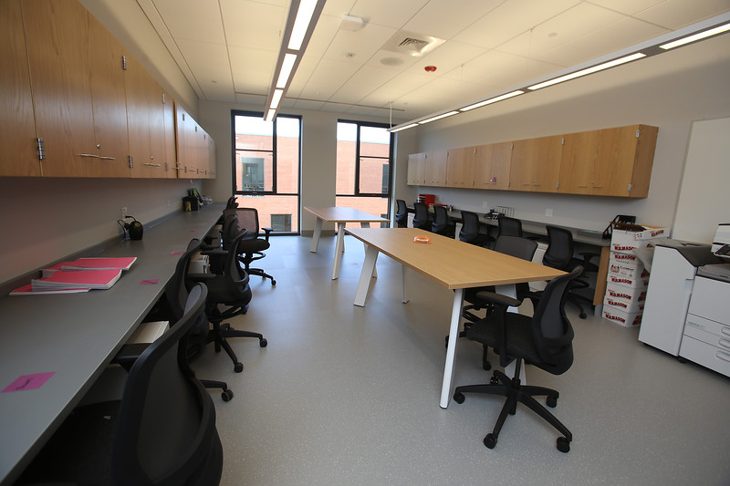 A teacher planning room at the new Billerica Memorial High School. (SUN/Julia Malakie)