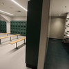 Tour of the new Billerica Memorial High School. The girls' physical education locker room. There are separate athletic team locker rooms. (SUN/Julia Malakie)