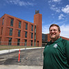Superintendent Tim Piwowar gives a tour of the new Billerica Memorial High School. (SUN/Julia Malakie)