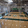Gym at the new Billerica Memorial High School. (SUN/Julia Malakie)