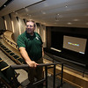 Superintendent Tim Piwowar in the balcony of the auditorium during a tour of the new Billerica Memorial High School. (SUN/Julia Malakie)