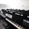 Keyboard room at the new Billerica Memorial High School. (SUN/Julia Malakie)