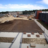 Superintendent Tim Piwowar gives a tour of the new Billerica Memorial High School. View from 4th floor of the future courtyard. Hockey rink is at left.(SUN/Julia Malakie)