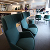 Tour of the new Billerica Memorial High School. Like other common areas, the Library has a variety of seating options. (SUN/Julia Malakie)
