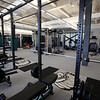 Weight room at the new Billerica Memorial High School. (SUN/Julia Malakie)