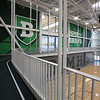 Walking track above the gym in the new Billerica Memorial High School. (SUN/Julia Malakie)