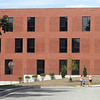 Main entrance side of the new Billerica Memorial High School. (SUN/Julia Malakie)