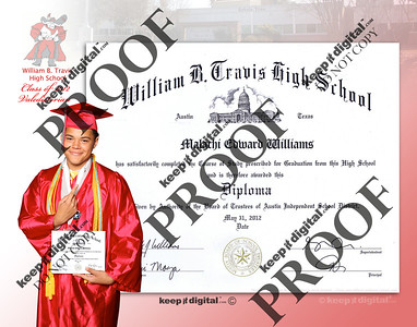 2013 Travis Keedjit Diploma Proof Photos