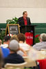 """Hall of Fame catcher Jim Sundberg speaks at the baseball themed event """"League of our Own"""" at Trinity Christian Academy."""