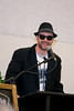 """Head of School Michael Skaggs,  quoting a line from the Blues Brothers movie, says TCA is """"on a mission from God."""" Sunglasses with the TCA logo were given to guests."""