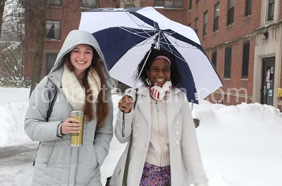Snow Photos on the Trinity College Campus - February 5, 2014 - Photo by John Atashian