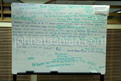 Appreciation Board in the Library - March 5, 2014 - Photo by John Atashian
