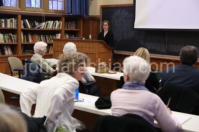 """""""DowntonAbbey in Context"""" Class in Seabury Hall - March 5, 2014 - Phot by John Atashian"""