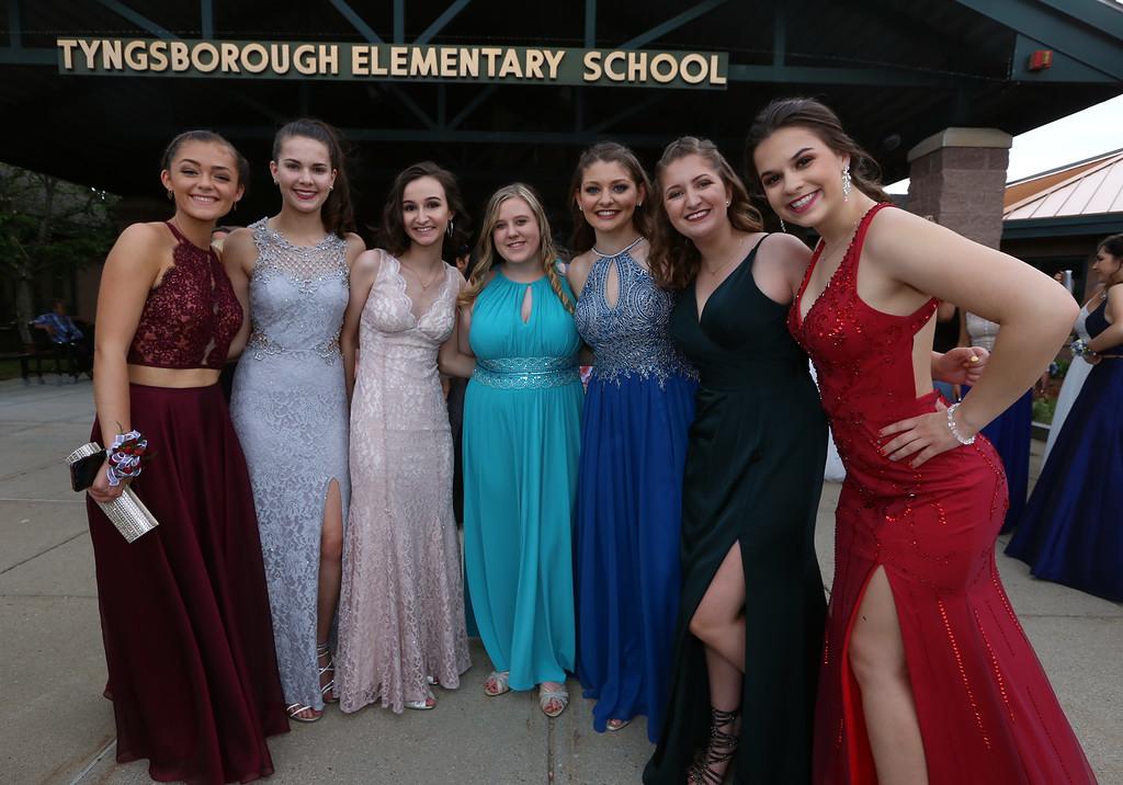 . Tyngsboro High School pre-prom gathering at Tyngsboro Elementary School. (SUN/Julia Malakie)
