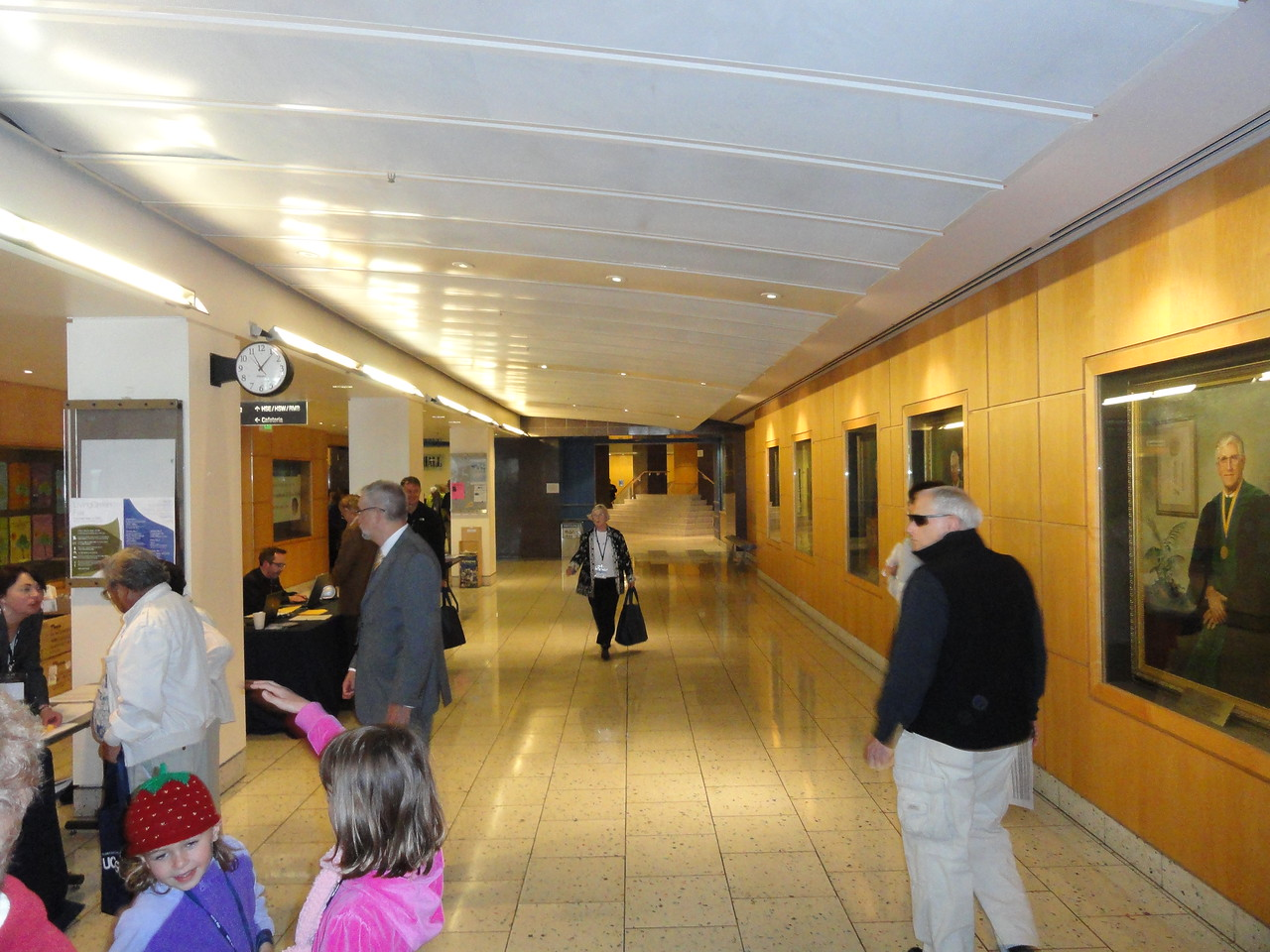 Main hallway to Cole Hall