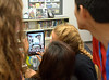 Bob Raines--Montgomery Media<br /> STEAM project students try out an app that distorts selfies like funhouse mirrors May 27, 2015.